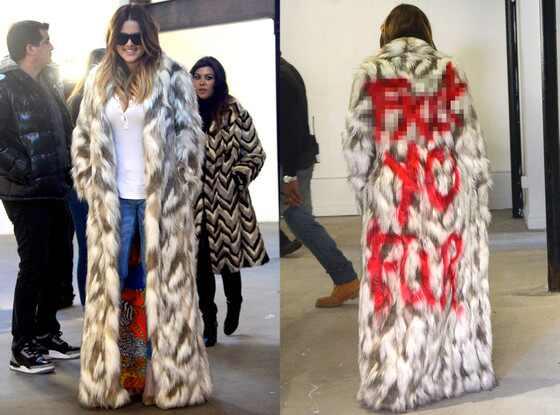 Khloe Kardashian, Fur Coat