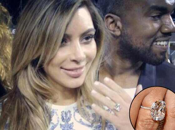 Kim Kardashian, Kanye West, Engagement Ring
