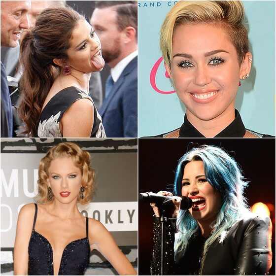 Selena Gomez, Miley Cyrus, Demi Lovato e Taylor Swift