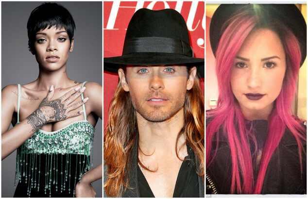Rihanna Jared Leto Demi Lovato