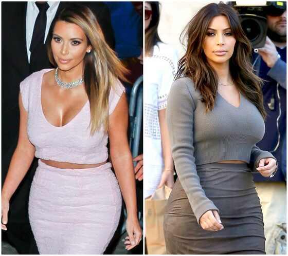 Kim Kardashian muda o visual e fica morena