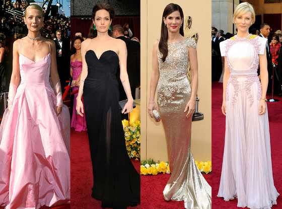 Gwyneth Paltrow, Angelina Jolie, Sandra Bullock, Cate Blanchett, Oscars Over the Years