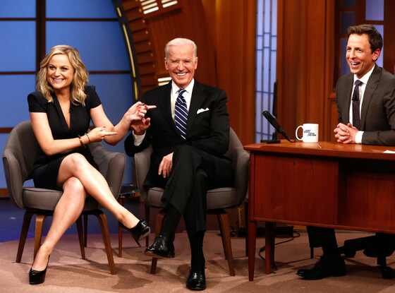 Late Night With Seth Meyers, Amy Poehler, Joe Biden