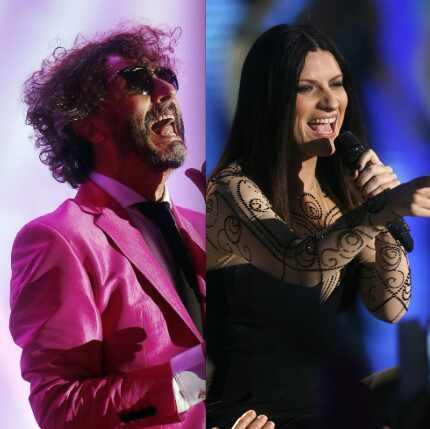 Fito Páez y Laura Pausini