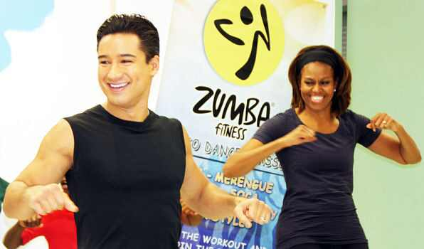 Michelle Obama, Mario Lopez