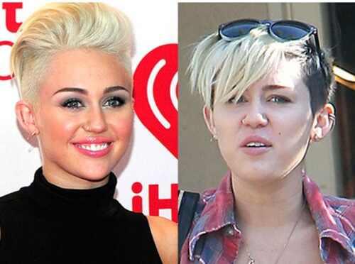 Miley Cyrus sem maquiagem, famosas sem maquiagem
