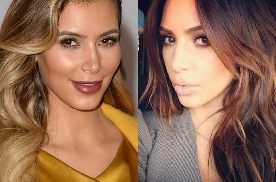 Kim Kardashian, Blonde, Brunette