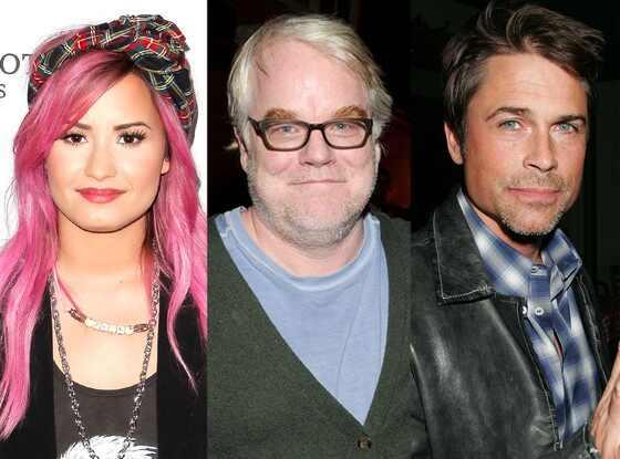 Demi Lovato, Philip Seymour Hoffman, Rob Lowe