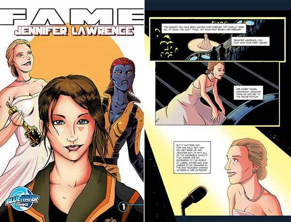 Jennifer Lawrence gibi historinha quadrinhos
