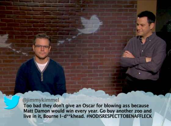 Matt Damon, Jimmy Kimmel, Mean Tweets