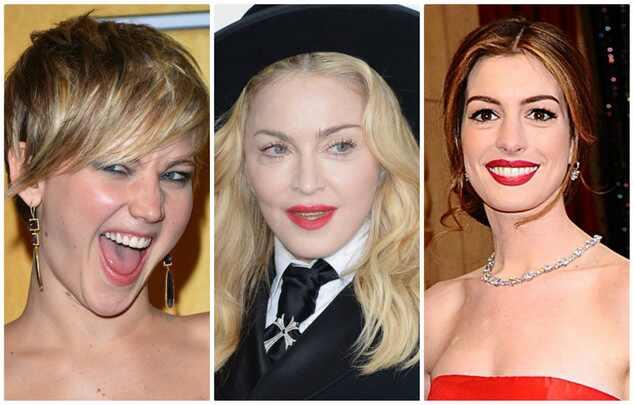 Jennifer Lawrence Madonna Anne Hathaway