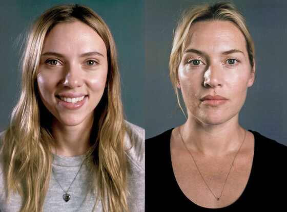 Scarlett Johansson, Kate Winslet, Vanity Fair, No Makeup
