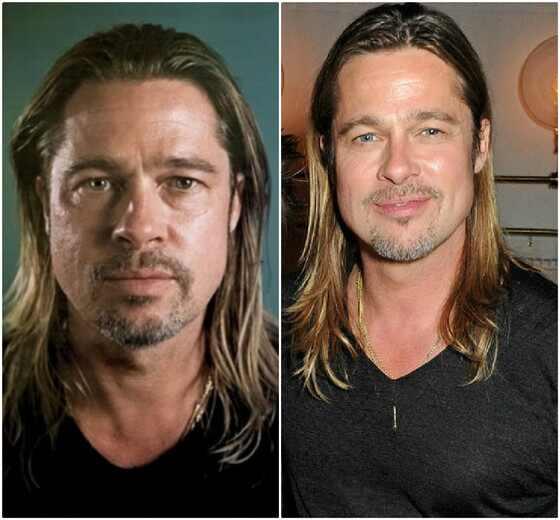 Brad Pitt sem maquiagem
