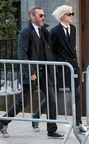 Joaquin Phoenix, Allie Teilz, Philip Seymour Hoffman Funeral