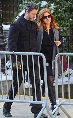 Amy Adams, Philip Seymour Hoffman Funeral