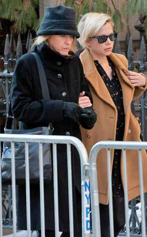 Michelle Williams, Philip Seymour Hoffman Funeral