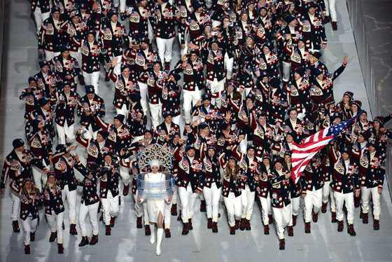 Team USA, Todd Lodwick, Sochi Opening Ceremony