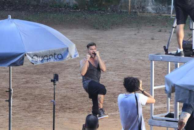 Ricky Martin grava clipe no Rio de Janeiro