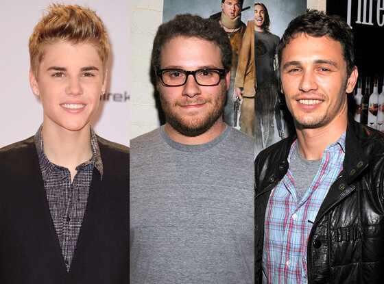 Justin Bieber, Seth Rogen, James Franco
