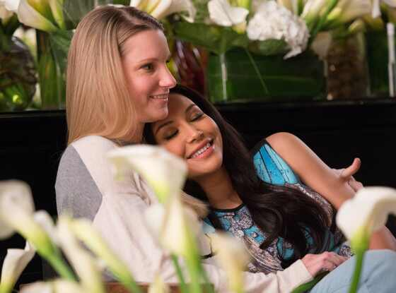 Heather Morris, Naya Rivera, Glee