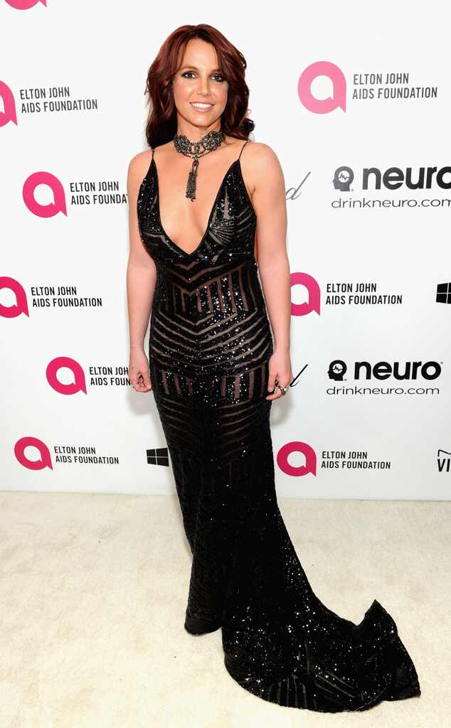 Britney Spears, Oscars 2014, Elton John Party