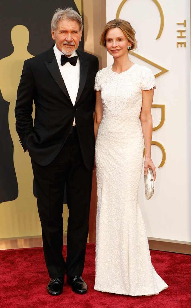 Harrison Ford & Calista Flockhart from 2014 Oscars: Hottest Couples   E! News  Harrison