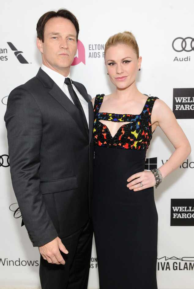 Stephen Moyer, Anna Paquin, Oscars 2014, Elton John Party