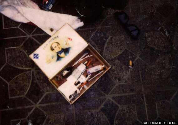 Kurt Cobain fotos cena morte