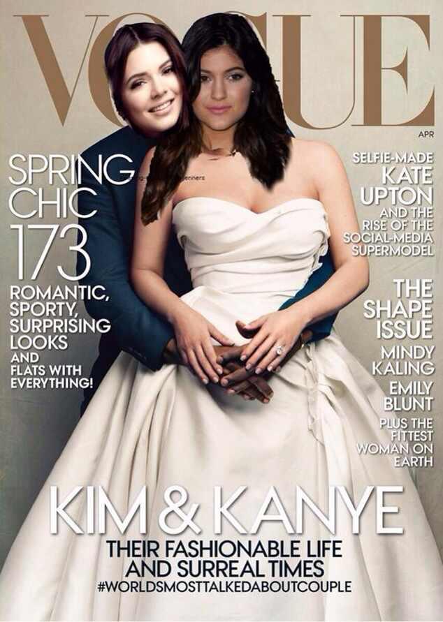 Kendall Jenner, Kylie Jenner, Vogue, Kim Kardashian, Kanye West