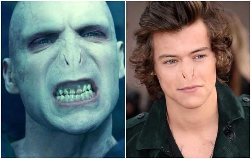 Harry Styles nariz Valdemort