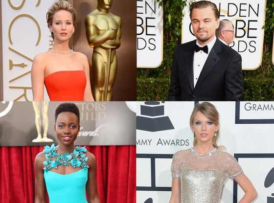 Jennifer Lawrence, Leonardo DiCaprio, Lupita Nyong