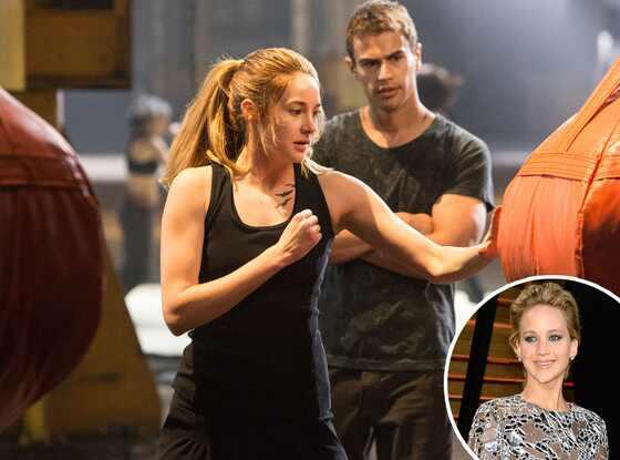 Divergent, Jennifer Lawrence, Shailene Woodley