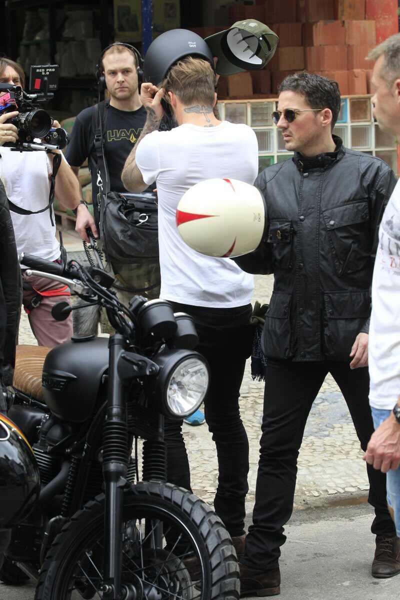 David Beckham Rio de Janeiro Carnaval moto