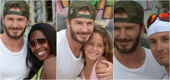 David Beckham favela Rio de Janeiro