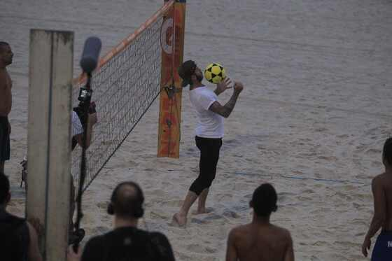 David Beckham joga fut volei praia Rio de Janeiro