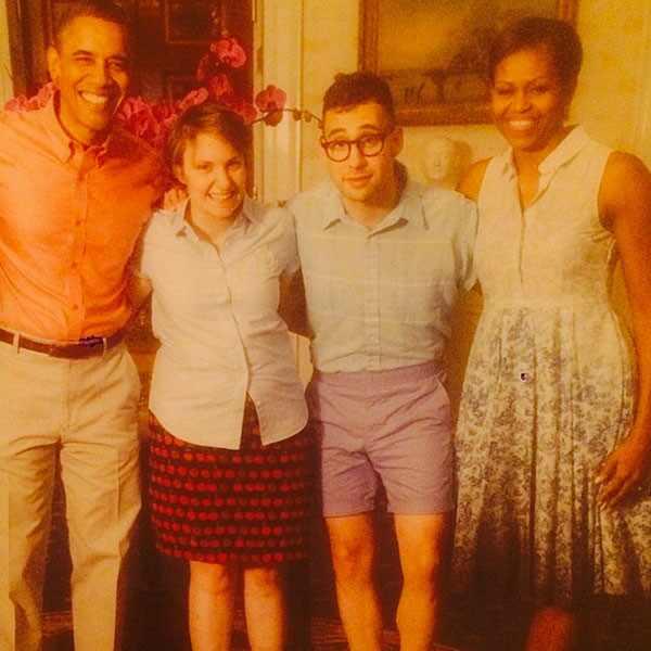 Lena Dunham, Jack Antonoff, Barack Obama, Michelle Obama Instagram