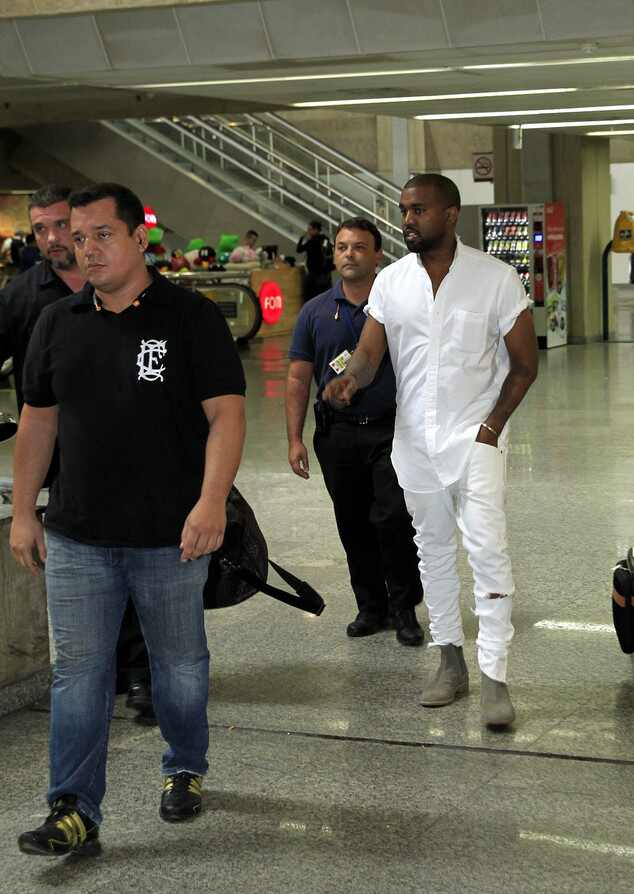 Kanye West no Brasil sem Kim Kardashian para carnaval