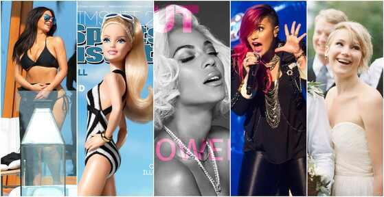 Demi Lovato, Jennifer Lawrence, Barbie, Kim Kardashian, Beyoncé