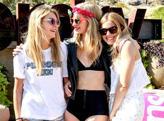 Cara Delevingne, Poppy Delevingne, Sienna Miller, Coachella