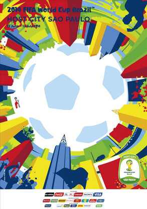 Os postêrs das cidades sede da Copa