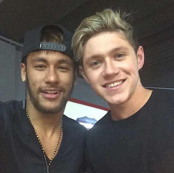 Neymar e Niall Horan do One Direction