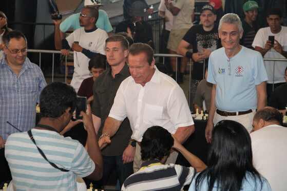 Arnold Schwarzenegger no Brasil