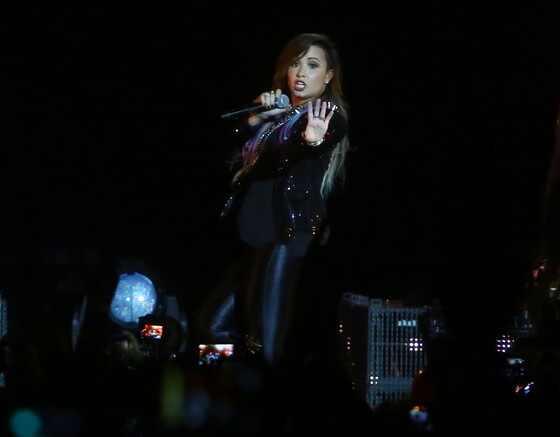 Demi Lovato faz show no Rio de Janeiro