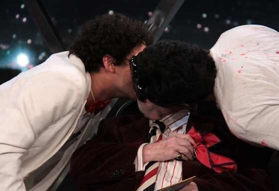Jô Soares beijo triplo