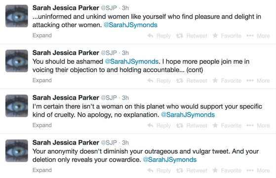 Sarah Jessica Parker, Tweets