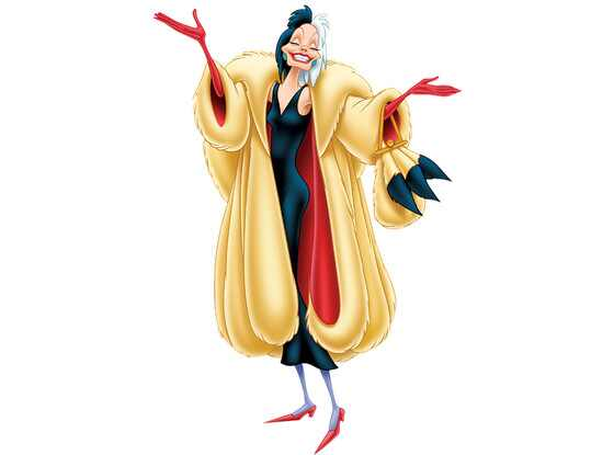 Disney Villains, Cruella de Vil, One Hundred and One Dalmatians