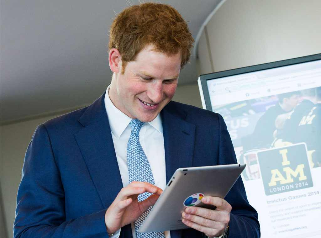 Prince Harry, First Tweet