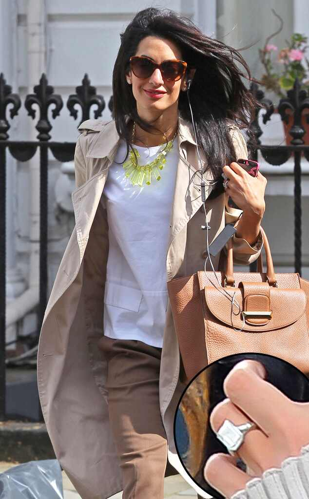Amal Alamuddin, Engagement Ring