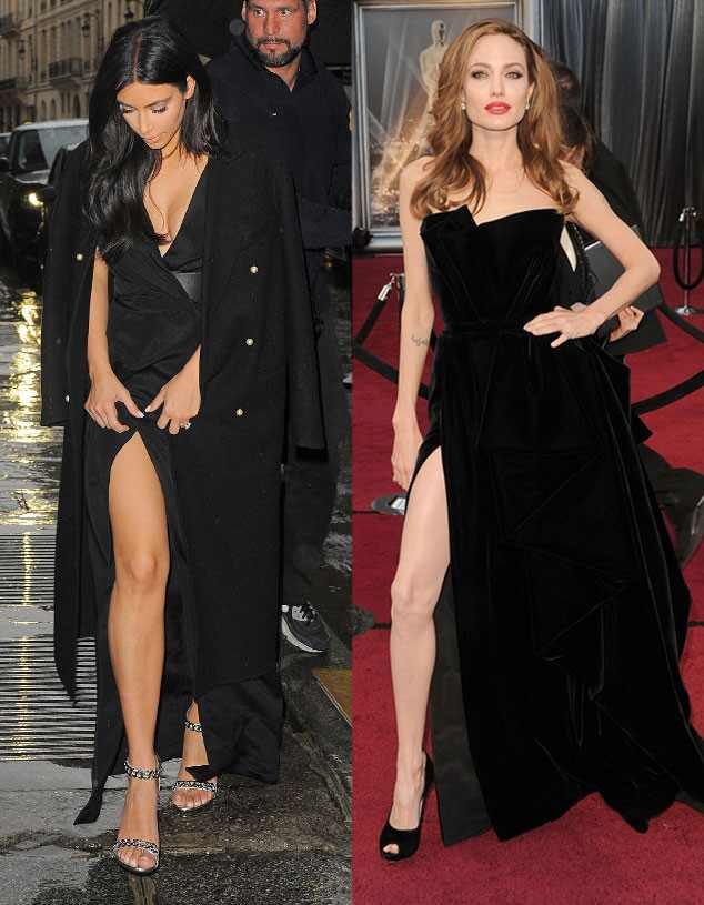 Kim Kardashian, Angelina Jolie