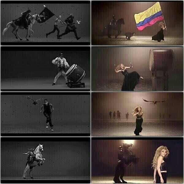 Shakira, La la la, Woodkid, iron, video